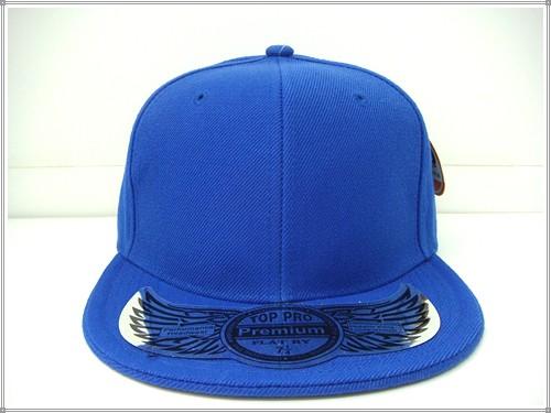 c544c9a169f Plain Flat Fitted Cap Royal Blue