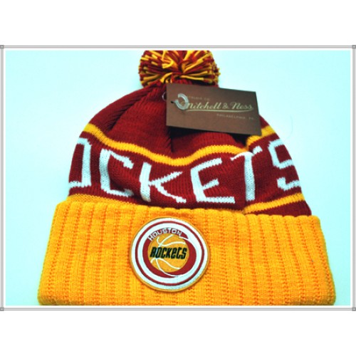 7a20b48b808 Mitchell   NESS WINTER POM HAT 1276 ROCKETS RED GOLD